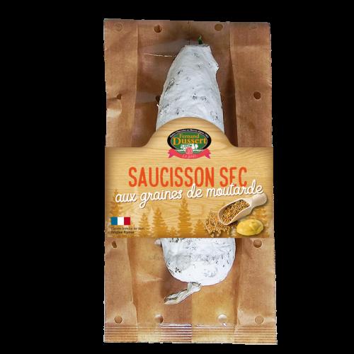 Saucisson sec aux graines de moutarde 200g Fernand Dussert